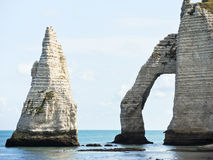 Natural rocks in english channel beach. Of Etretat cote d'albatre, France Stock Photo