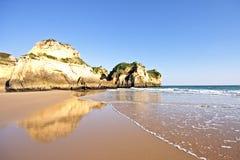 Natural rocks near Alvor in Portugal Stock Photo