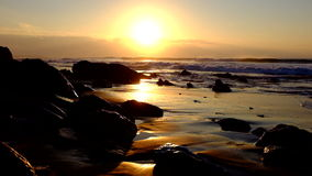 Natural rocks and ocean at sunset Portugal stock footage