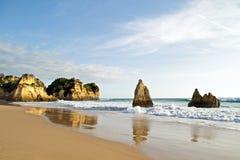 Natural rocks in Portugal Stock Image