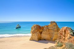 Natural rocks in Portugal. Natural rocks at Praia da Rocha in the Algarve Portugal Royalty Free Stock Photography