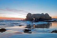 Natural rocks at Praia da Rocha Portimao in the Algarve Portugal Stock Images