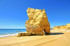 Natural rocks at Praia da Rocha Portugal Stock Photo