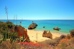 Natural rocks at Praia da Rocha Portugal Royalty Free Stock Photos