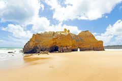 Natural rocks at Praia da Rocha in Portugal Royalty Free Stock Images