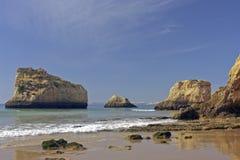 Natural rocks Tres Irmaos Alvor Portugal stock photo