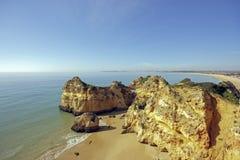Natural rocks Tres Irmaos Alvor Portugal Royalty Free Stock Photo