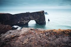 Natural rocky arch. Scenic landscape of Iceland Stock Image