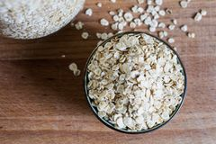 Natural rolled oats for breakfast royalty free stock image
