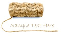 Natural rope. And sample text Royalty Free Stock Photography