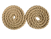 Natural rope not replace synthetics Stock Photos