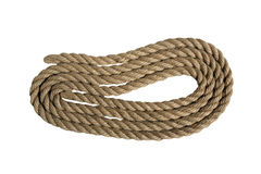 Natural rope not replace synthetics Royalty Free Stock Images