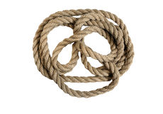 Natural rope not replace synthetics Stock Photography