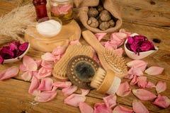 Natural rose cosmetics Royalty Free Stock Photo