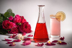 Natural rose syrup royalty free stock images