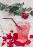 Natural rose water drink cool. Royalty Free Stock Photos