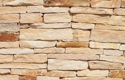 Natural rough stone wall texture for background Stock Images