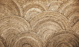 Natural round wicker pattern background Royalty Free Stock Photo