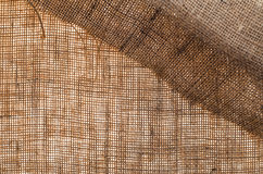Natural sackcloth textured for background Stock Photography