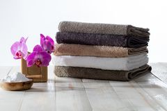 Safe housekeeping, laundry cleaning with traditional soap and baking soda royalty free stock image