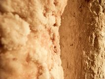 Natural Salt Close Up Background Texture. From Wieliczka Salt Mine Stock Photos