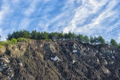Natural salty hills at Lopatari, in Buzau County Stock Photography