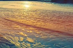 Natural sand background sunset light royalty free stock images