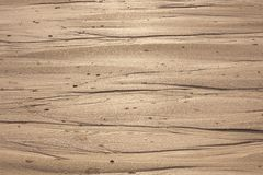 Natural sand patterns in beach. At low tide stock photo