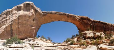 Natural Sandstone Bridge. Natural Bridges National Monument, Utah, USA Royalty Free Stock Photo