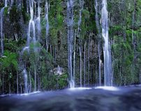 Natural Scenery. Mountain waterfall Natural Scenery stock image