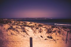 Natural scenery background. Sand view. Coast dunes beach sea view. royalty free stock photos