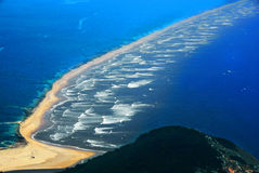 Natural scenery, beautiful hainan island. Looking down at the sea of spectacular beauty Stock Photos