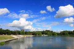 Natural scenery of china. The cloud and the lake of beautiful natural scenery royalty free stock photography