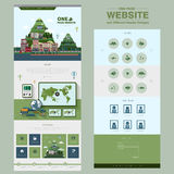 Natural scenery one page website design template Royalty Free Stock Image