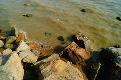 The natural scenery of the sea and the beach Royalty Free Stock Photos