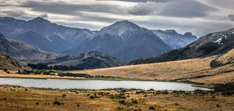 Natural Scenery of South Island, New Zealand. Lord of the Rings stock photography