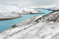 Natural scenery of Tibet in snow Stock Photography