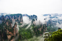Natural Scenery of Zhangjiajie. A World Natural Heritage in South China, Zhangjiajie is consisted of more than 3,000 quartz sandstone pillars, and many Karst Stock Photography