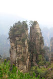 Natural scenery in Zhangjiajie National Geological Park Royalty Free Stock Photos