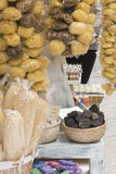 A natural sea sponges in the shop at Symi island, Greece Royalty Free Stock Photography