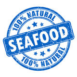 Natural seafood rubber stamp Stock Photography