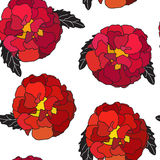 Natural Seamless Pattern Background from Tagetes Flowers Vector Illustration EPS10 Stock Photography