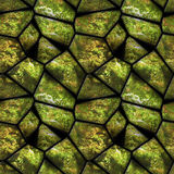 Natural seamless pattern of green stones covered with moss Royalty Free Stock Images