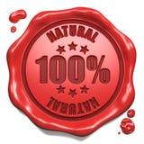 Natural - selo no selo vermelho da cera. Imagem de Stock