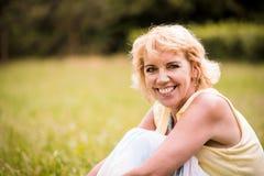 Natural senior woman portrait Royalty Free Stock Photo