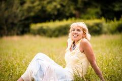 Natural senior woman portrait Stock Images
