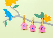 Natural SEO advertising Royalty Free Stock Image