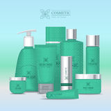 Natural Series Cosmetic Set . Vector Stock Images