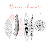 Natural set of different objects Royalty Free Stock Photos