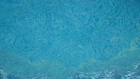 Natural Shiny blue water in a swimming pool stock footage